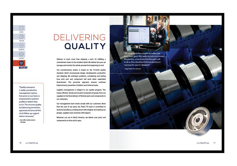 Theta brochure design